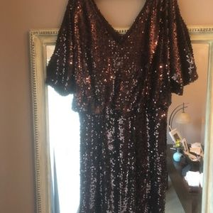 Chocolate Brown Cachet cocktail dress
